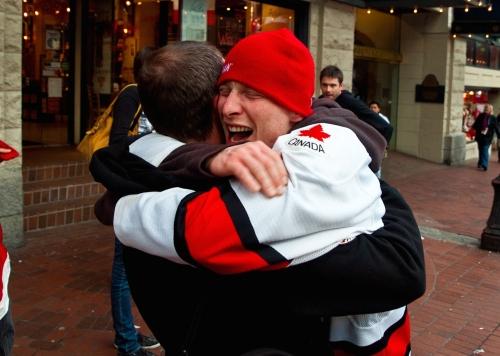 Yay! We won! Awesome hug of joy!!!